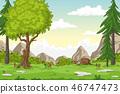 Cartoon Summer Landscape 46747473