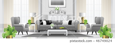Luxury living room interior background 46749024