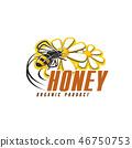 honey bee flower 46750753