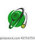 網球 球 向量 46750759