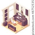 studio, computer, equipment 46752535