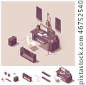Vector isometric home recording studio equipment 46752540