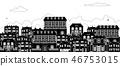 Houses Victorian Georgian Silhouettes Row Street 46753015