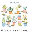 pot, floral, vector 46753682