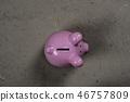 pig bank pink 46757809