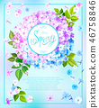 Spring background with Phlox 46758846