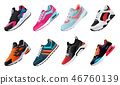 Fitness sneakers shoes for training running shoe. Sport shoes set 46760139