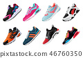 Fitness sneakers shoes for training running shoe. Sport shoes set 46760350