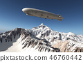 Airship over the mountains 46760442