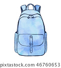 Sketch of a rucksack. Backpack 46760653