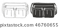 bag, black, drawn 46760655