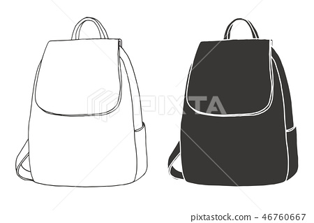 Sketch of a rucksack. Backpack 46760667