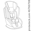 seat,baby,drawing 46760708