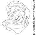 seat,car,vector 46760709