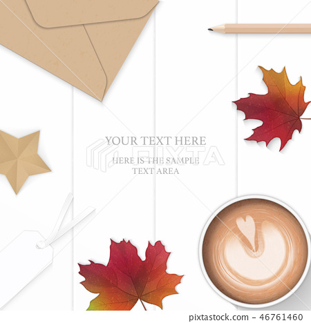 Flat lay top view elegant white paper composition 46761460