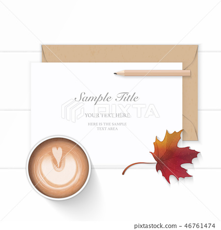 Flat lay top view elegant white paper composition 46761474