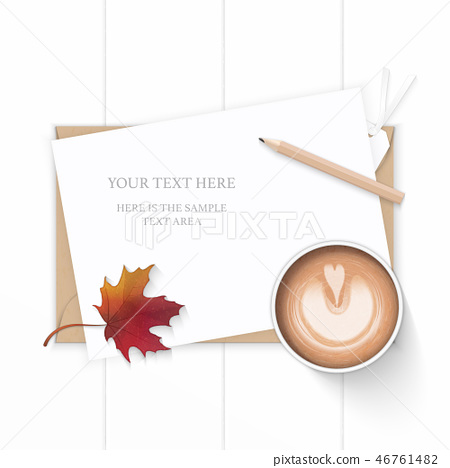 Flat lay top view elegant white paper composition 46761482
