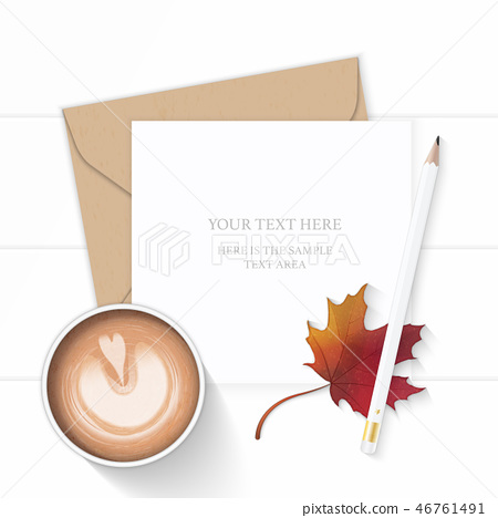 Flat lay top view elegant white paper composition 46761491