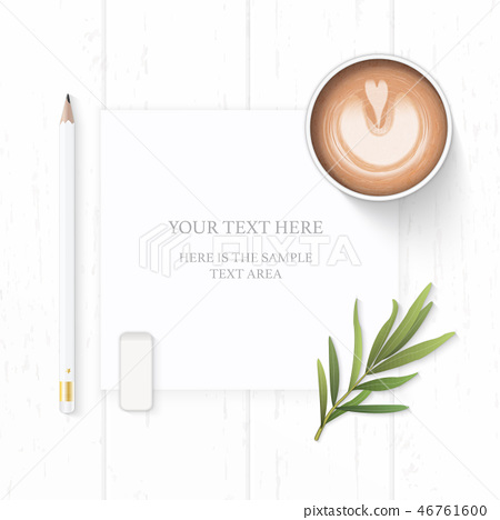 Flat lay top view elegant white paper composition 46761600