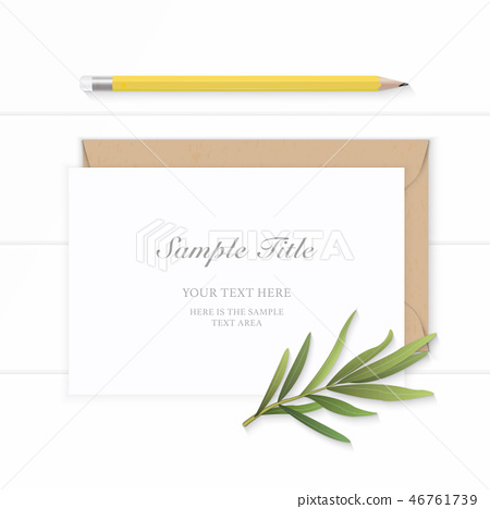 Flat lay top view elegant white paper composition 46761739