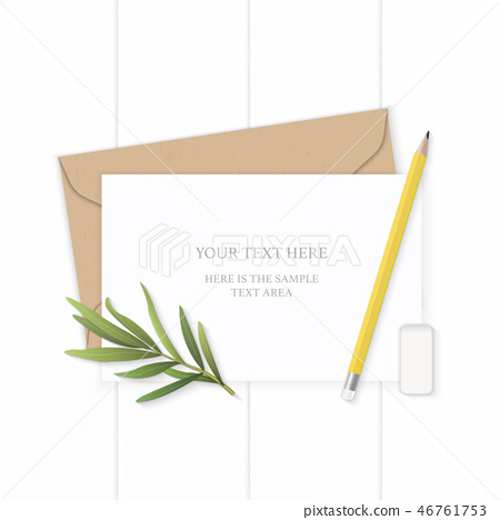 Flat lay top view elegant white paper composition 46761753