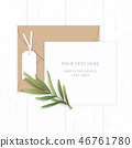Flat lay top view elegant white paper composition 46761780
