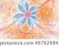 Decorative glossy flower digital artwork graphic. 46762684