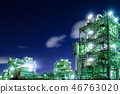 Factory night view Plant light up Kawasaki 46763020