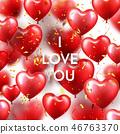 love, valentine, balloon 46763370