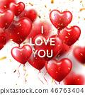 love, valentine, balloon 46763404