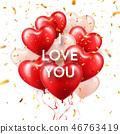 love, valentine, balloon 46763419