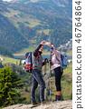selfie couple mountain 46764864