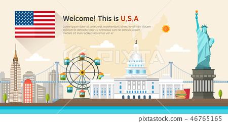 美國旅遊地標 46765165
