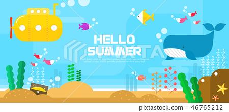 Summer sea travel illustration 46765212