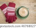 장갑과 커피 46768027