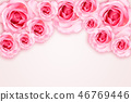 Abstract Background. Fresh flower pink roses 46769446