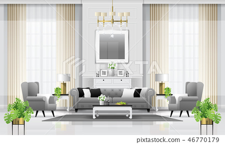 Luxury living room interior background 46770179