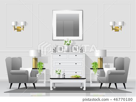 Luxury living room interior background 46770180