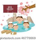 露天浴池中有四個流行家庭 46770669