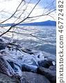 琵琶湖 寒冬 冬天 46772482