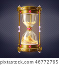 Precious sand clock with golden sand vector 46772795