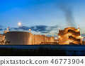 Industrial tanks in an industrial area 46773904