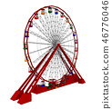 Ferris wheel isolated on white background 46776046