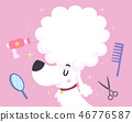 Dog Grooming Illustration 46776587