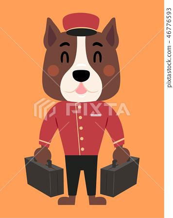 Dog Bell Boy Bags Illustration 46776593