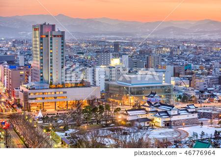 Toyama City, Japan Downtown Skyline 46776964