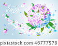 Spring background with Phlox 46777579