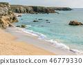 beach, brittany, sea 46779330