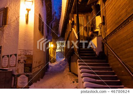 Swiss Winter Night a cold winter 46780624
