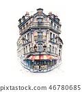 Typical Parisian house, France 46780685